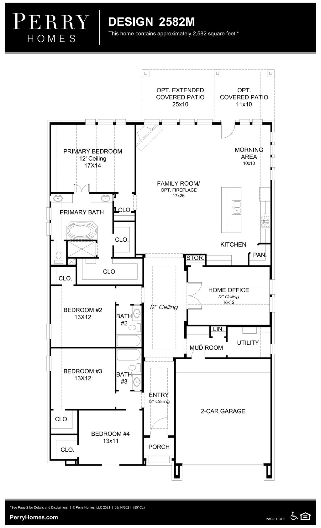 Floor Plan for 2582M
