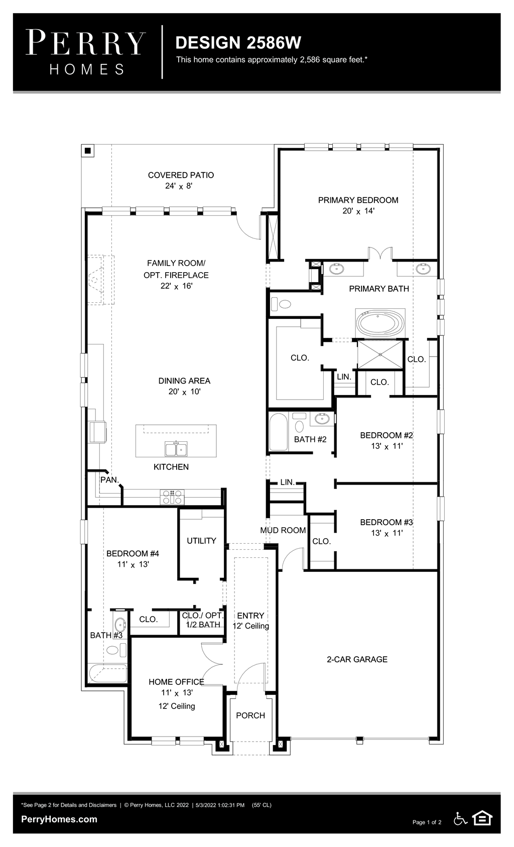 Floor Plan for 2586W