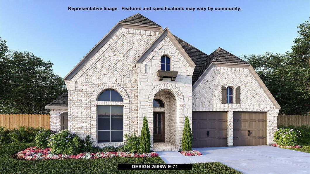New Home Design, 2,586 sq. ft., 4 bed / 3.5 bath, 2-car garage