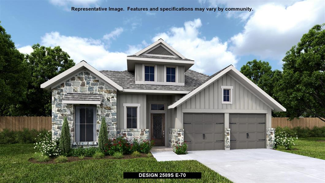 New Home Design, 2,589 sq. ft., 3 bed / 3.5 bath, 3-car garage