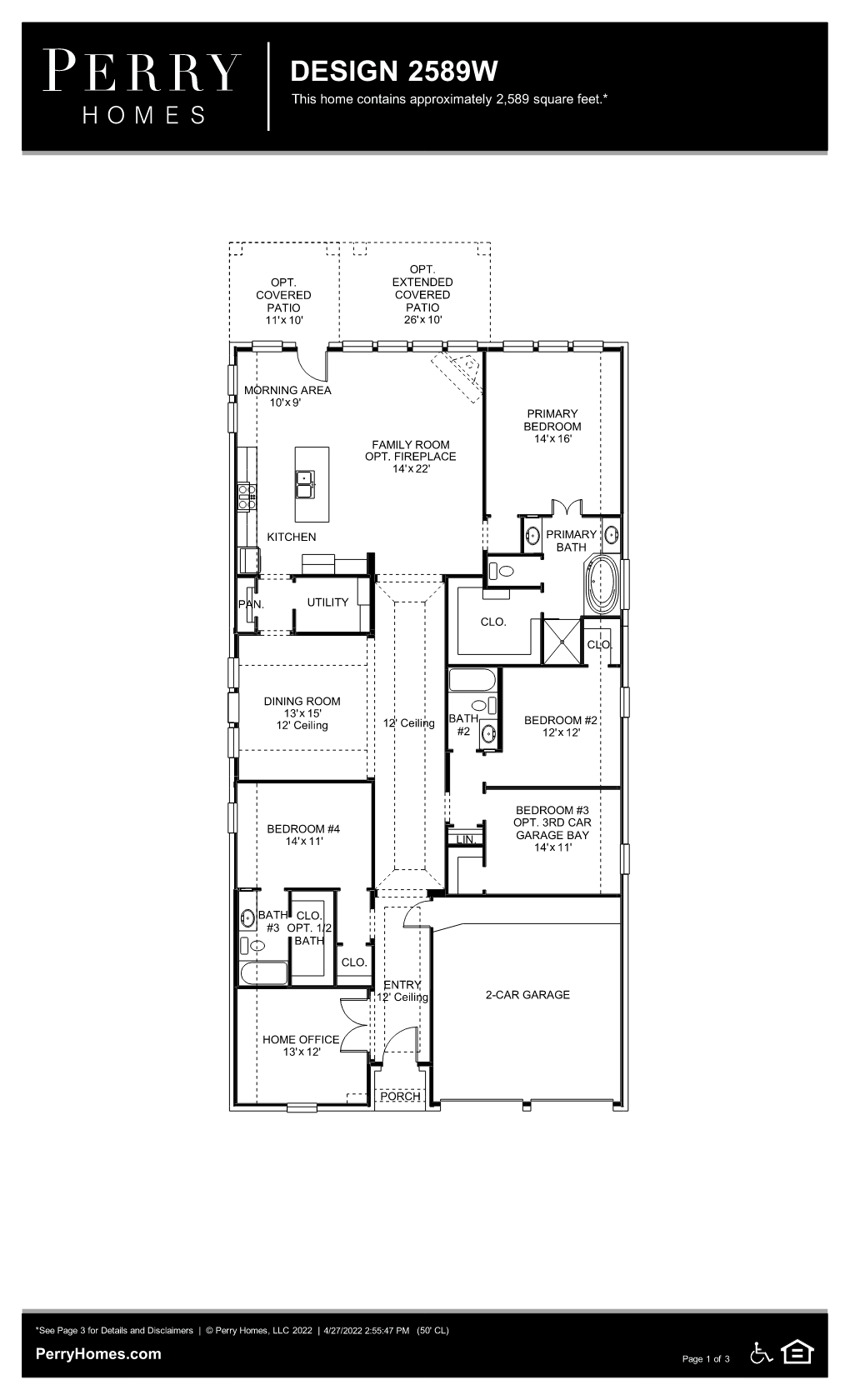 Floor Plan for 2589W