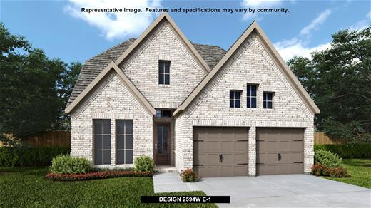 New Home Design, 2,594 sq. ft., 4 bed / 3.0 bath, 2-car garage