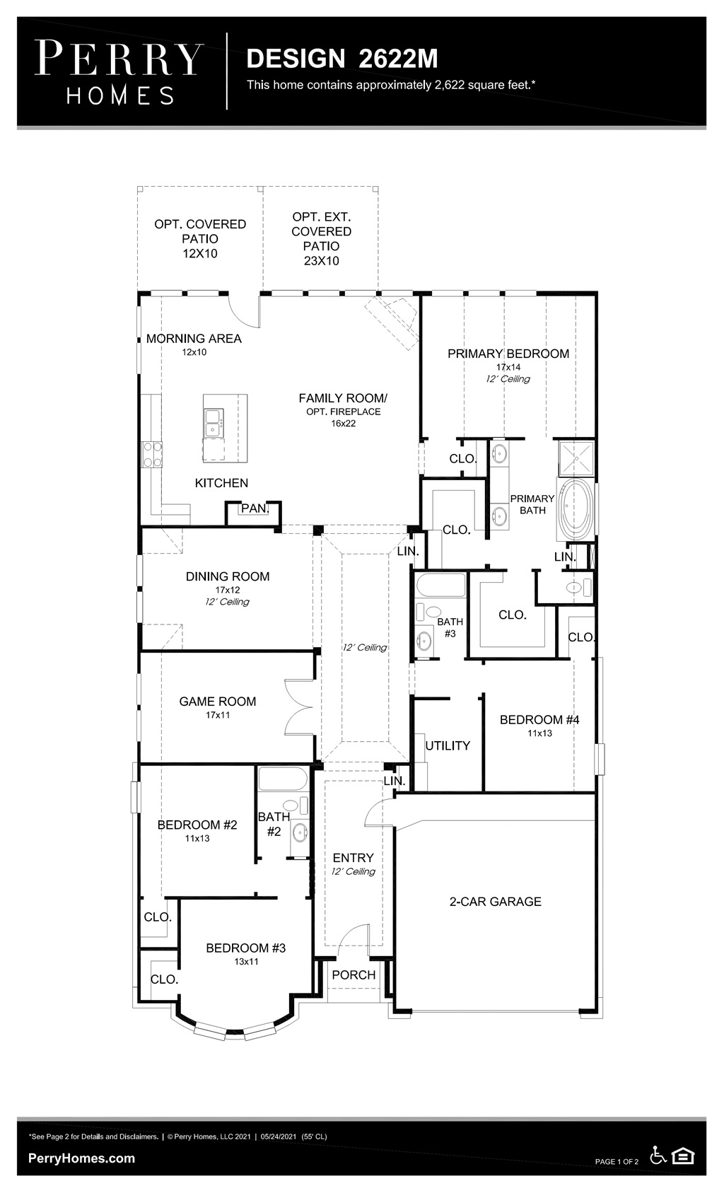 Floor Plan for 2622M