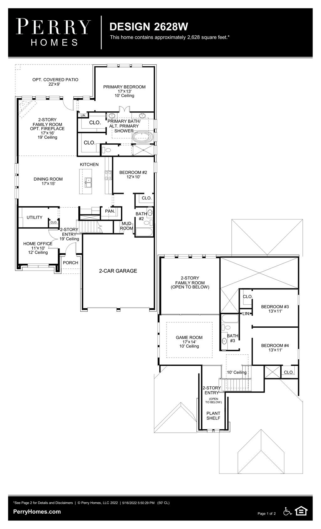 Floor Plan for 2628W