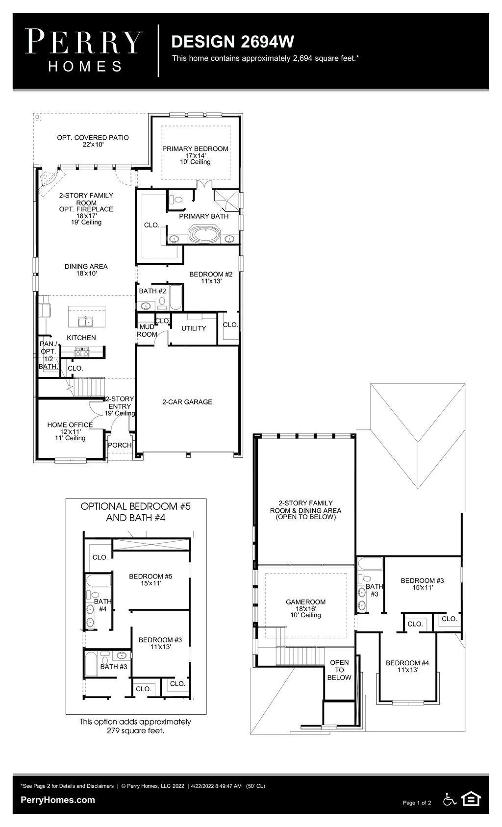 Floor Plan for 2694W