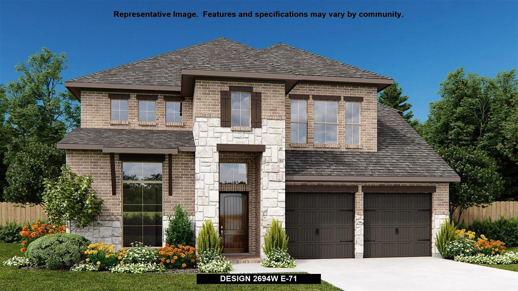 New Home Design, 2,694 sq. ft., 4 bed / 3.5 bath, 2-car garage