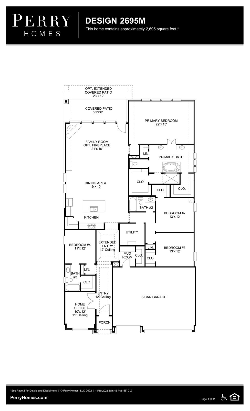 Floor Plan for 2695M