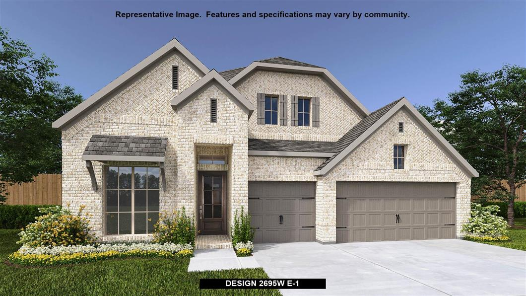New Home Design, 2,695 sq. ft., 4 bed / 3.0 bath, 3-car garage