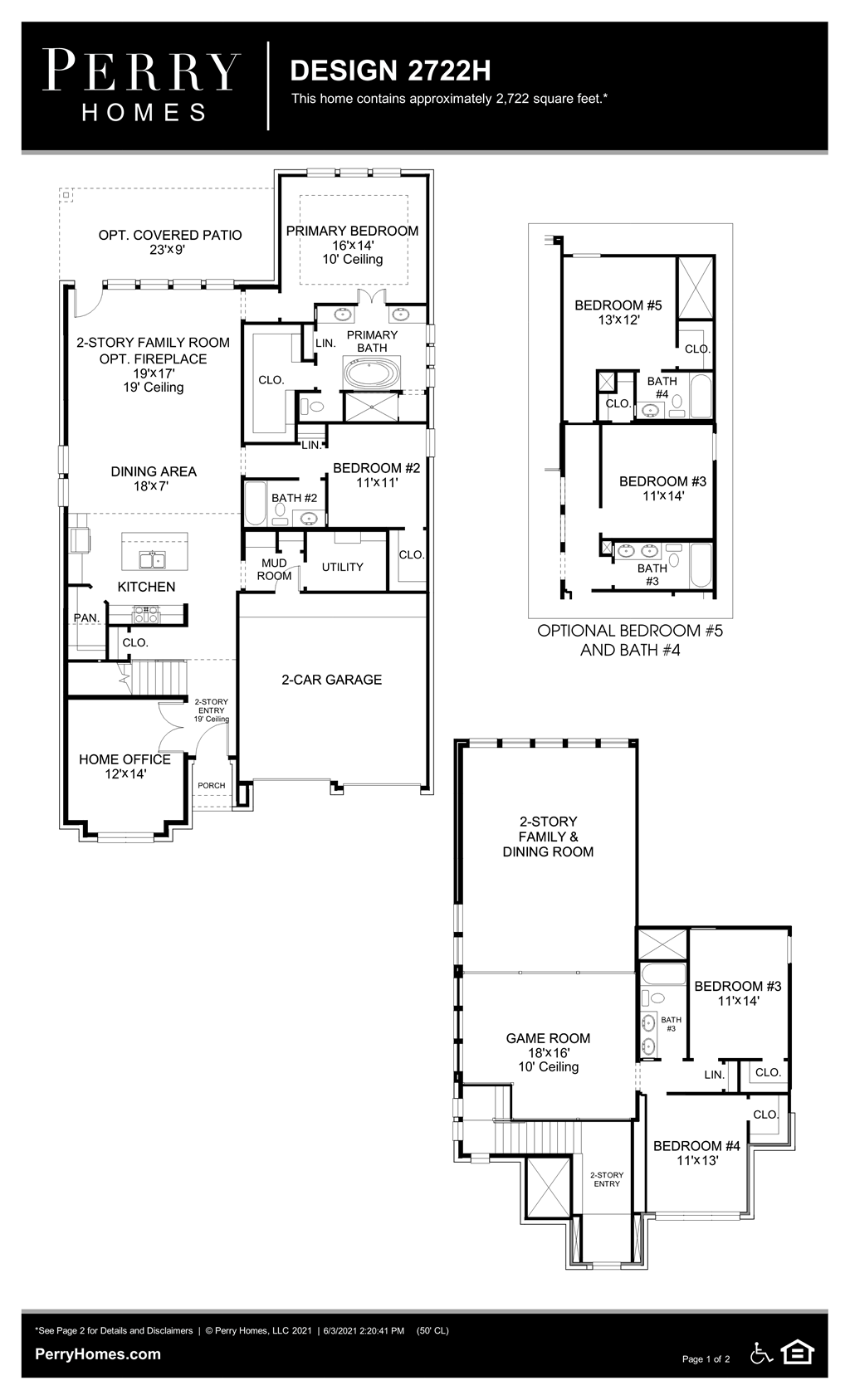 Floor Plan for 2722H