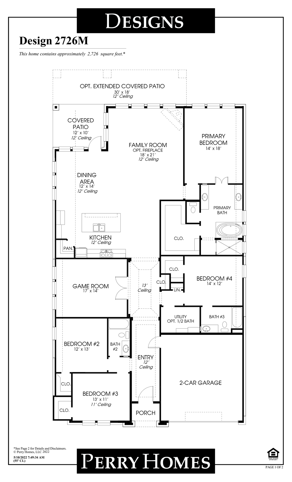 Floor Plan for 2726M