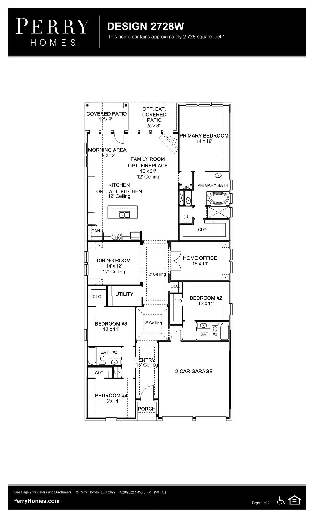 Floor Plan for 2728W