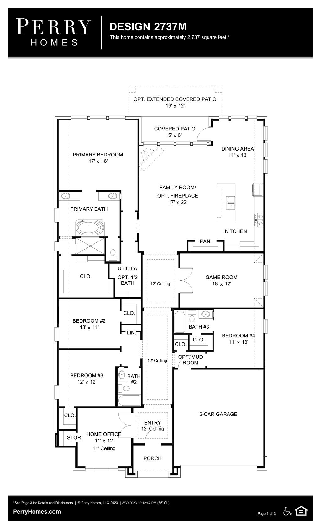 Floor Plan for 2737M