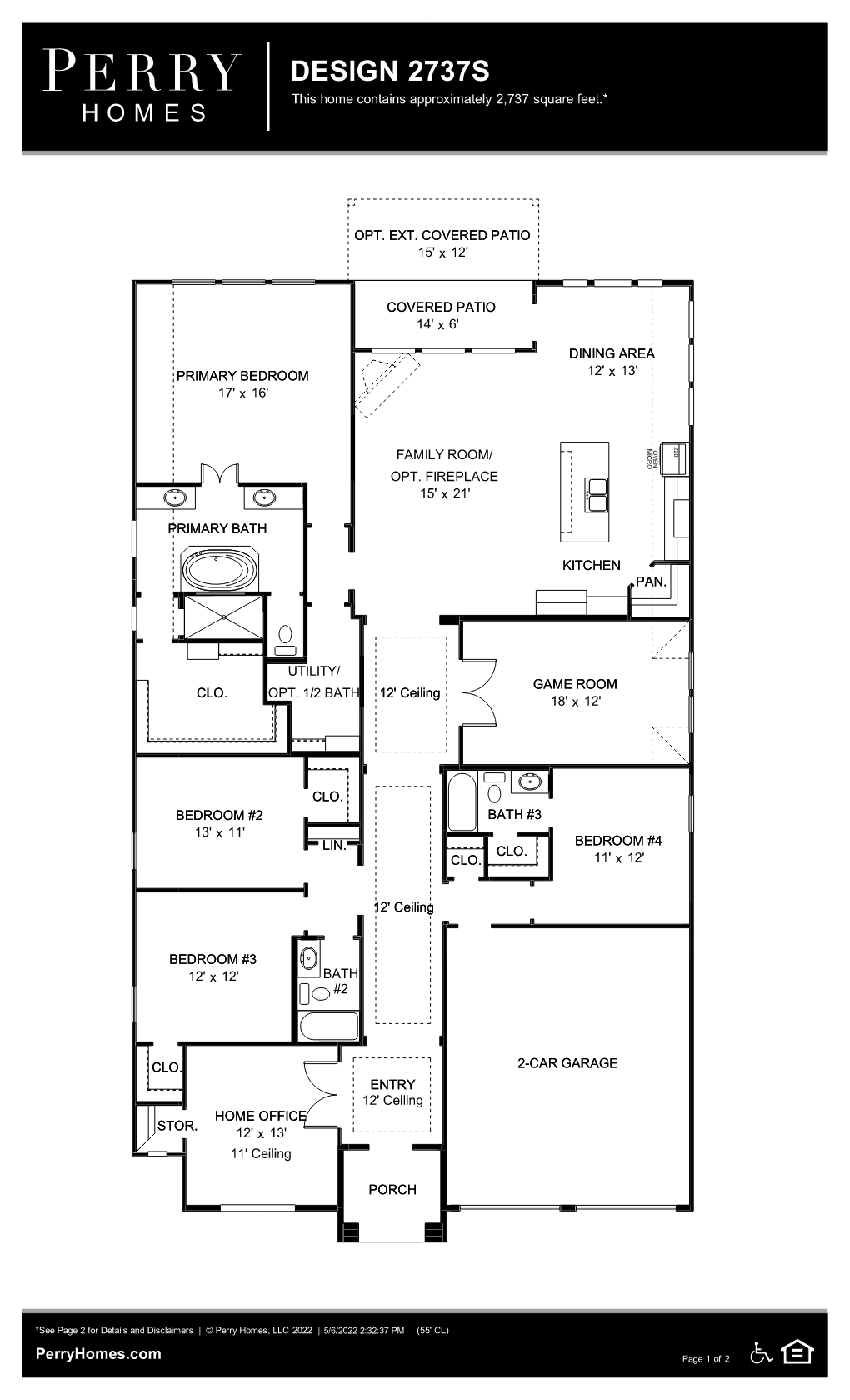 Floor Plan for 2737S