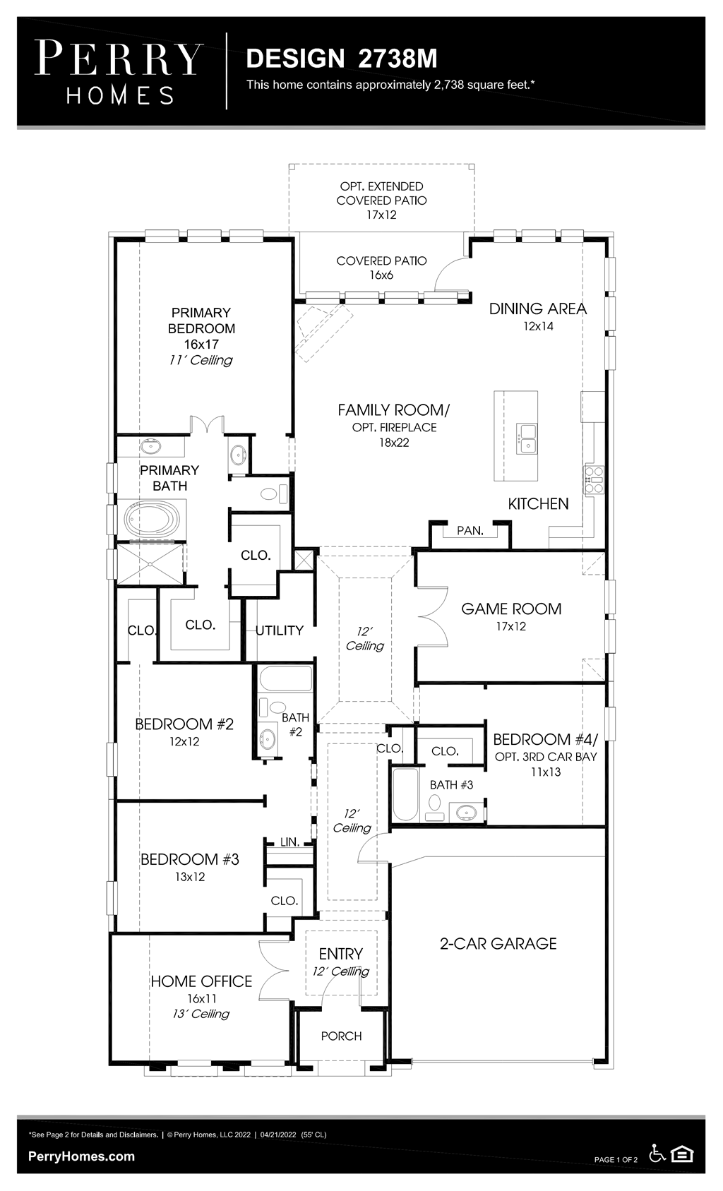 Floor Plan for 2738M