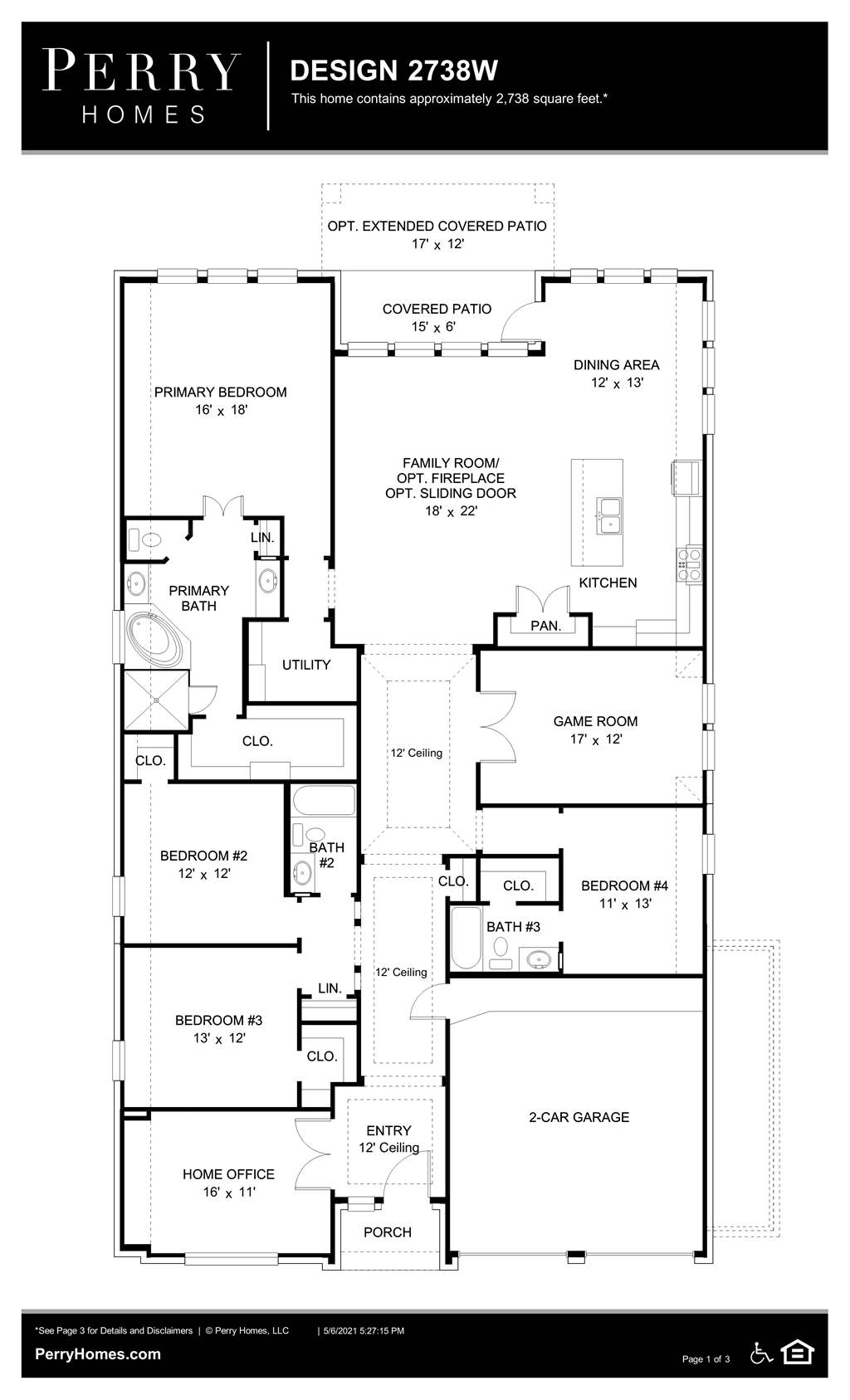 Floor Plan for 2738W
