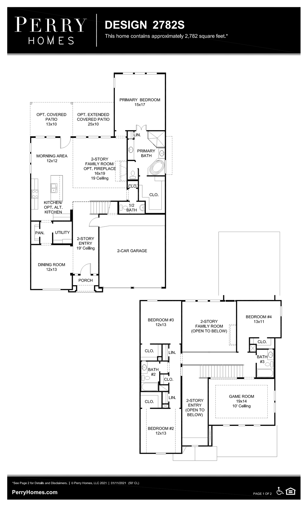 Floor Plan for 2782S