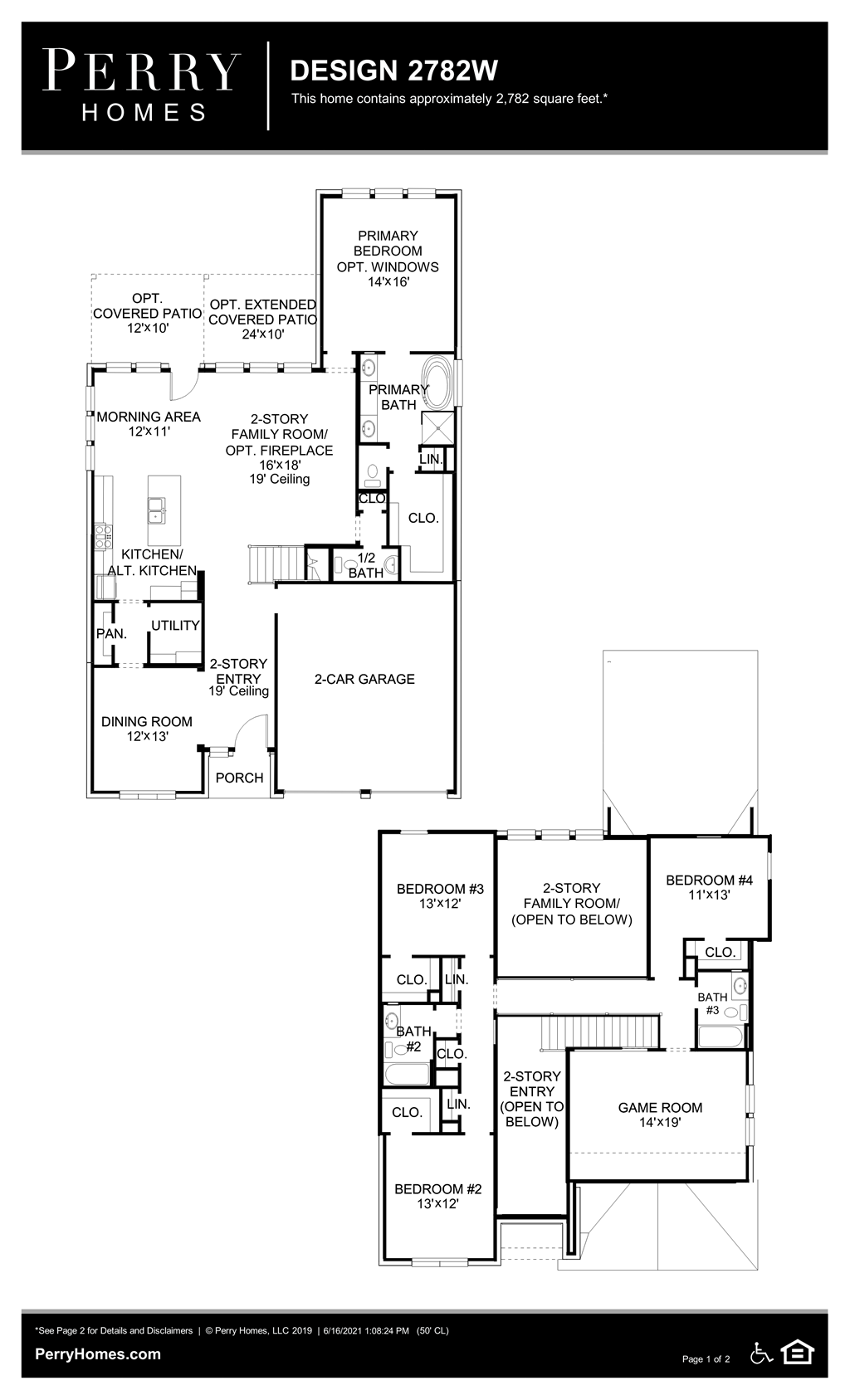 Floor Plan for 2782W