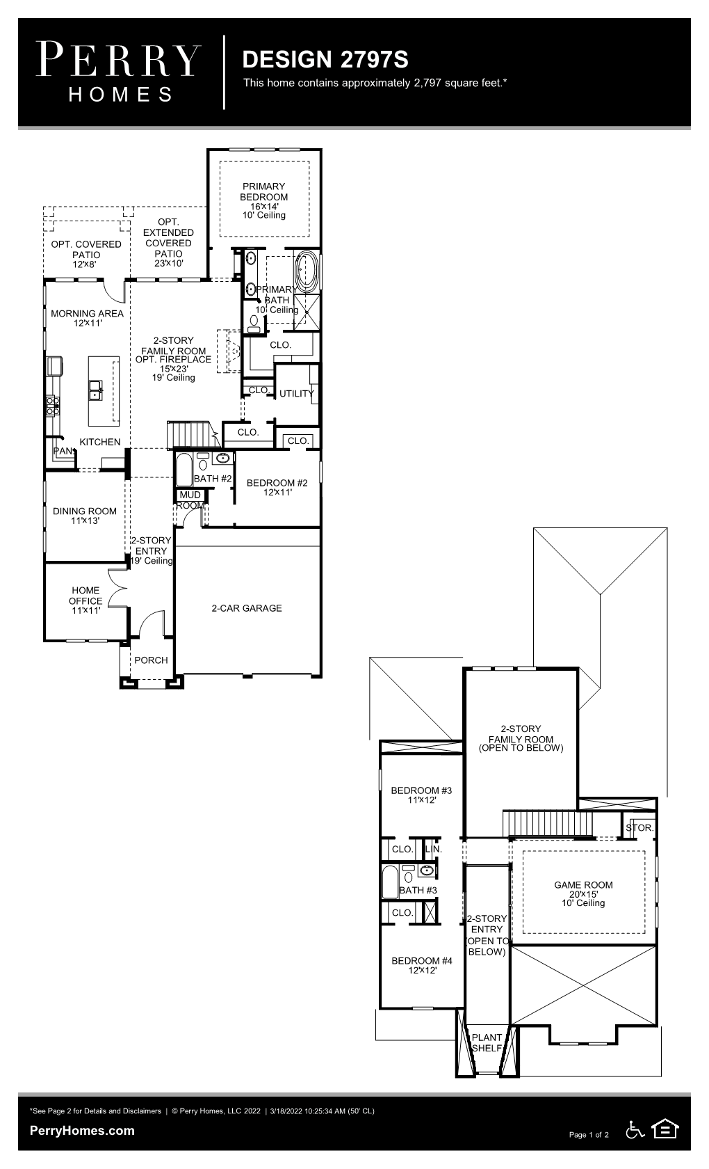 Floor Plan for 2797S