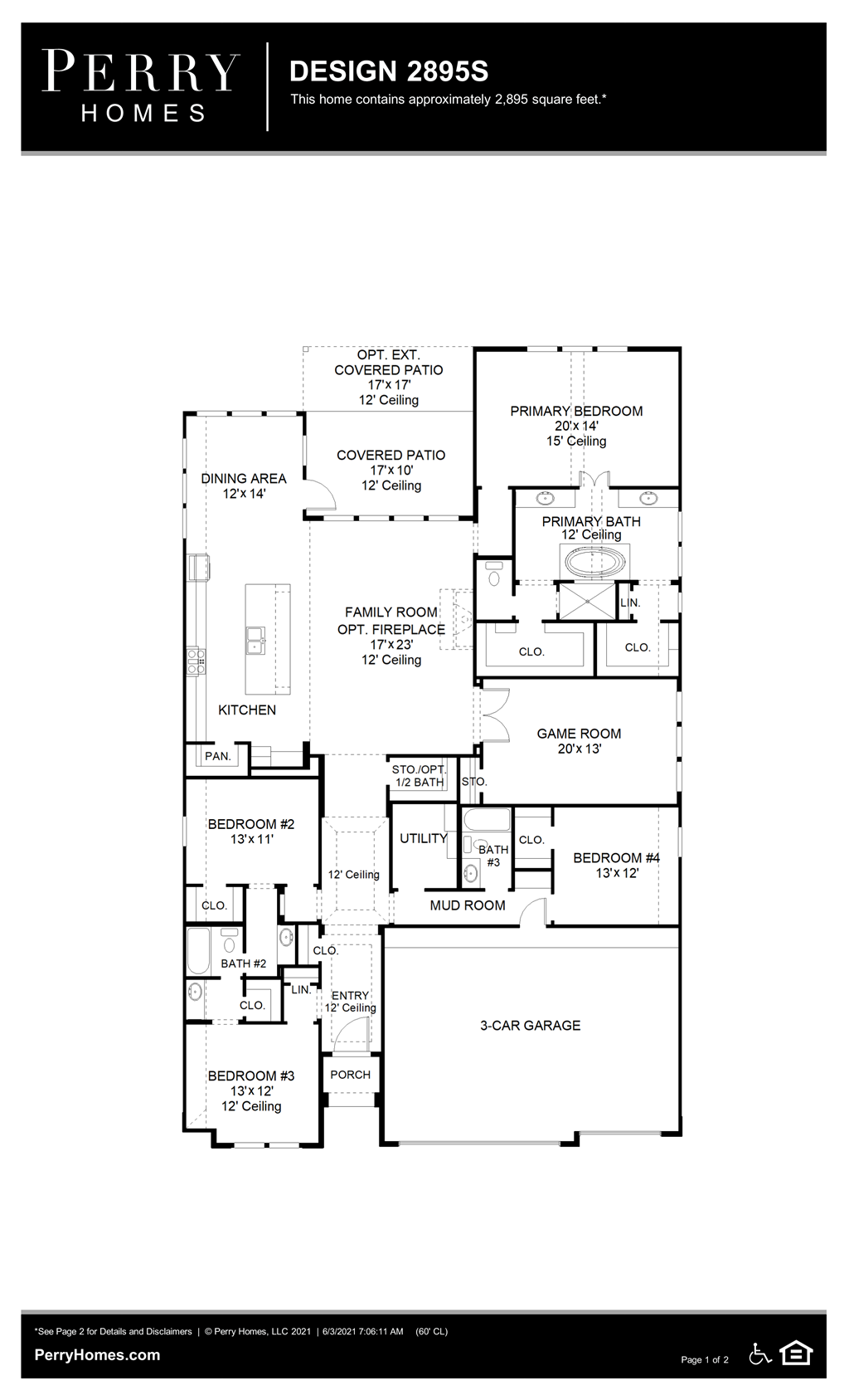 Floor Plan for 2895S
