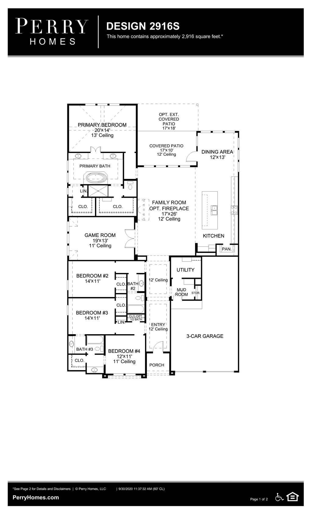 Floor Plan for 2916S
