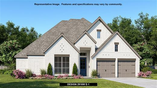 New Home Design, 2,916 sq. ft., 4 bed / 3.5 bath, 3-car garage