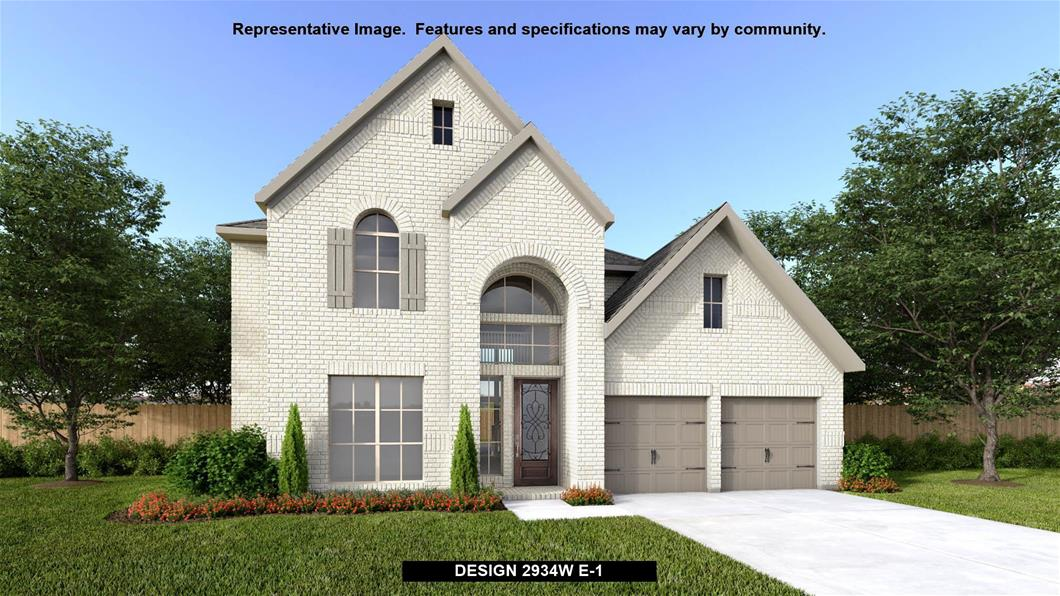 New Home Design, 2,934 sq. ft., 4 bed / 3.0 bath, 2-car garage