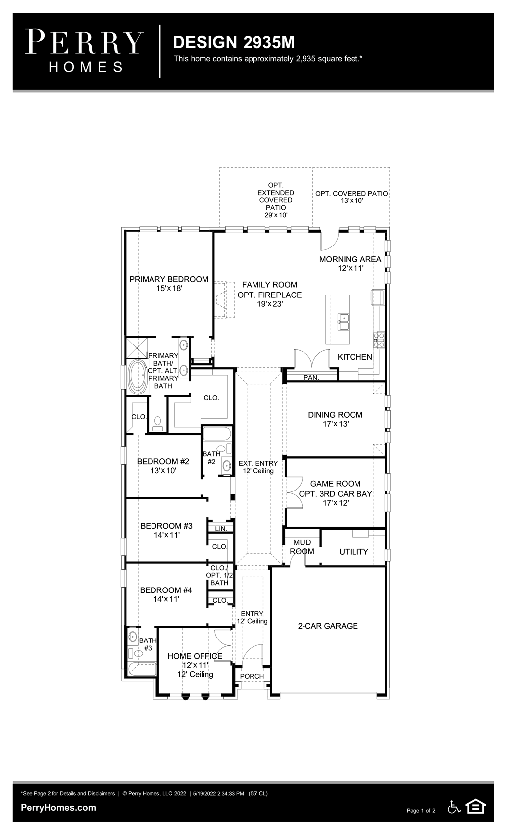 Floor Plan for 2935M