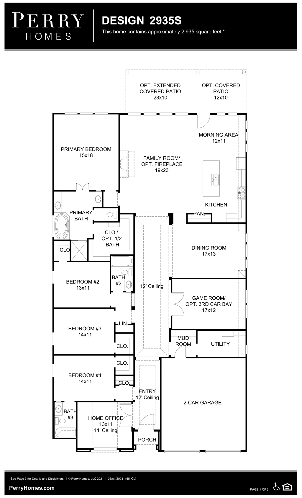 Floor Plan for 2935S