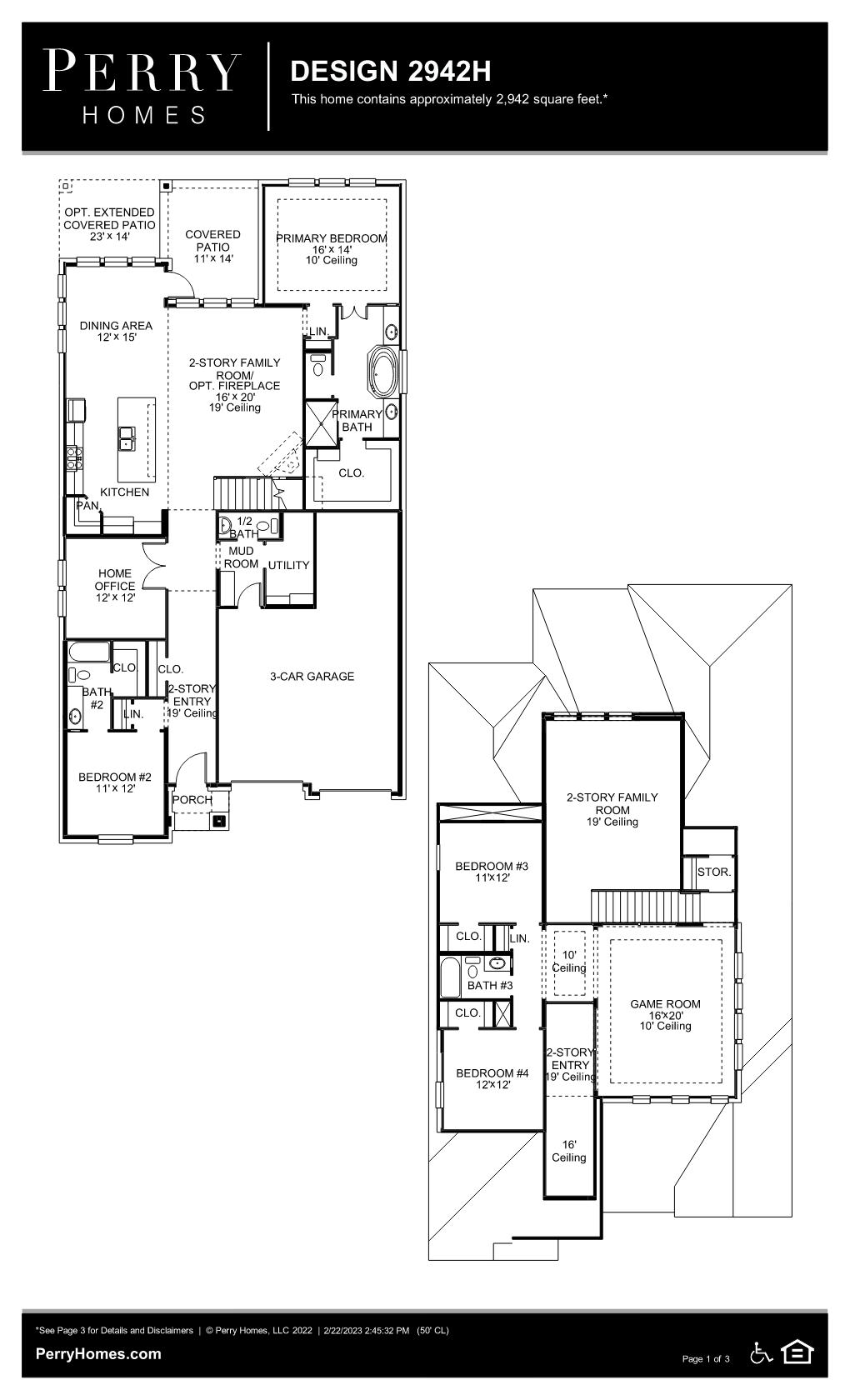 Floor Plan for 2942H