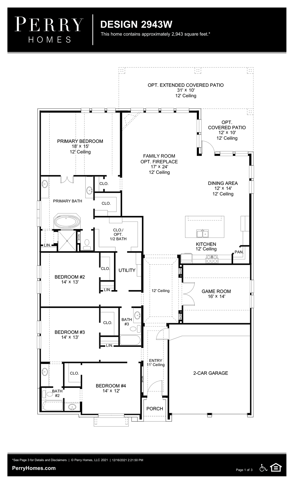 Floor Plan for 2943W