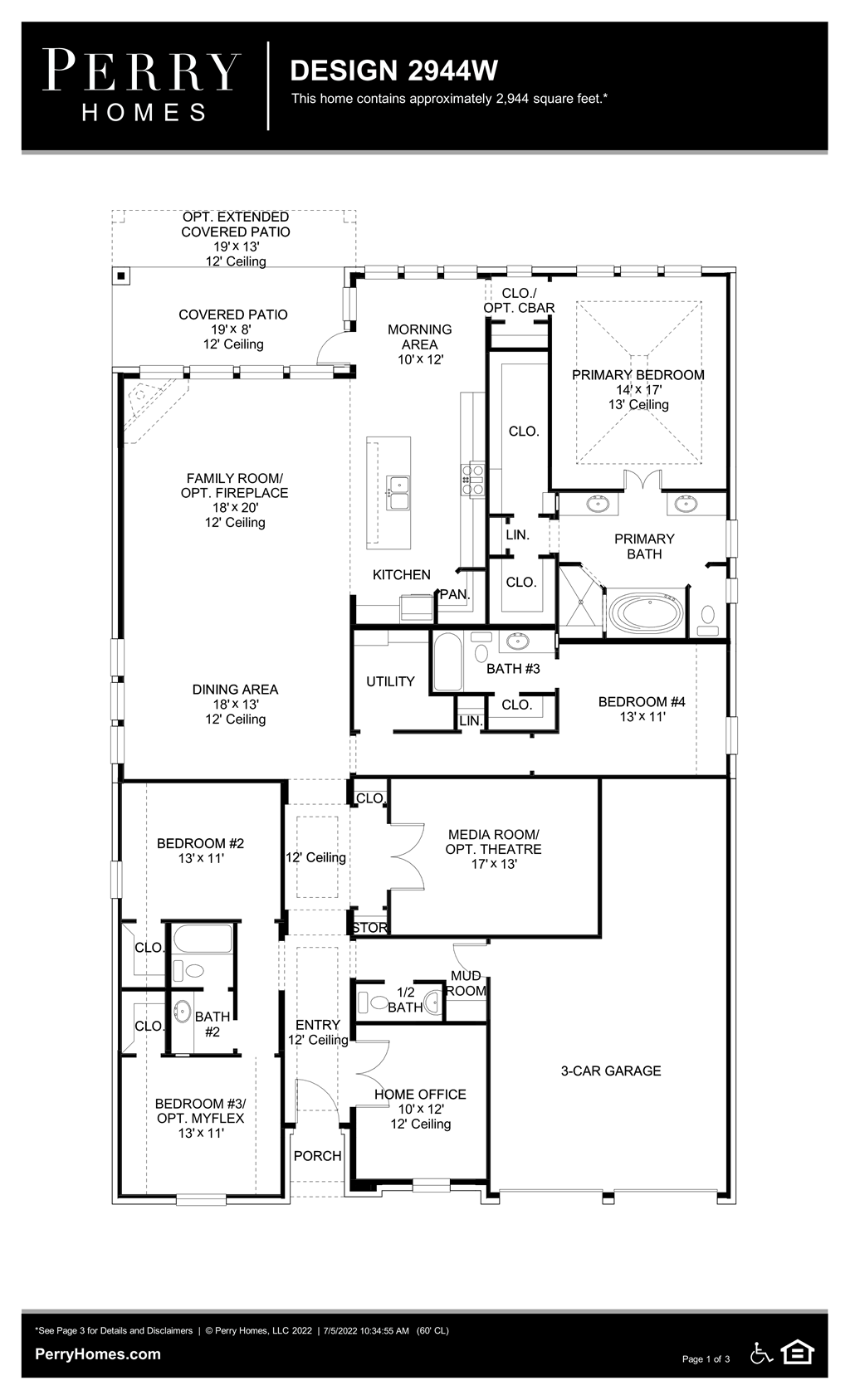 Floor Plan for 2944W