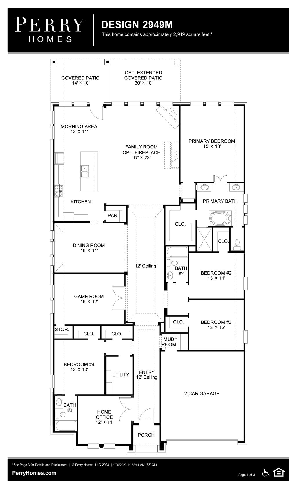 Floor Plan for 2949M