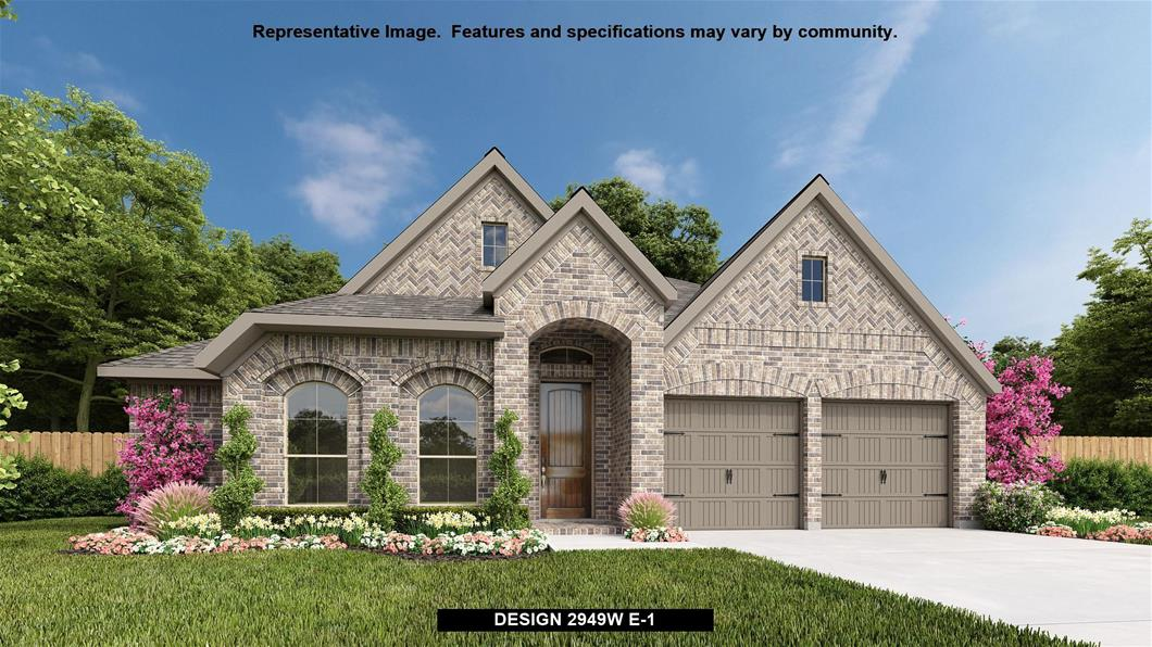 New Home Design, 2,949 sq. ft., 4 bed / 3.0 bath, 2-car garage