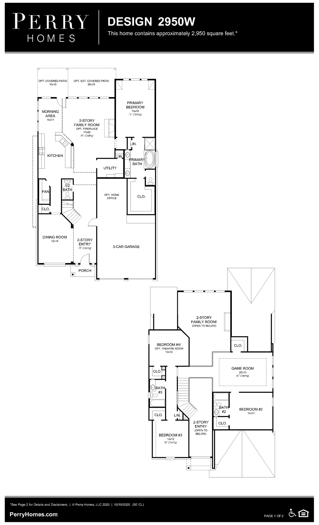 Floor Plan for 2950W