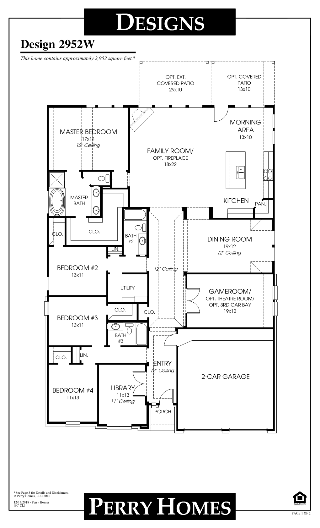 Floor Plan for 2952W