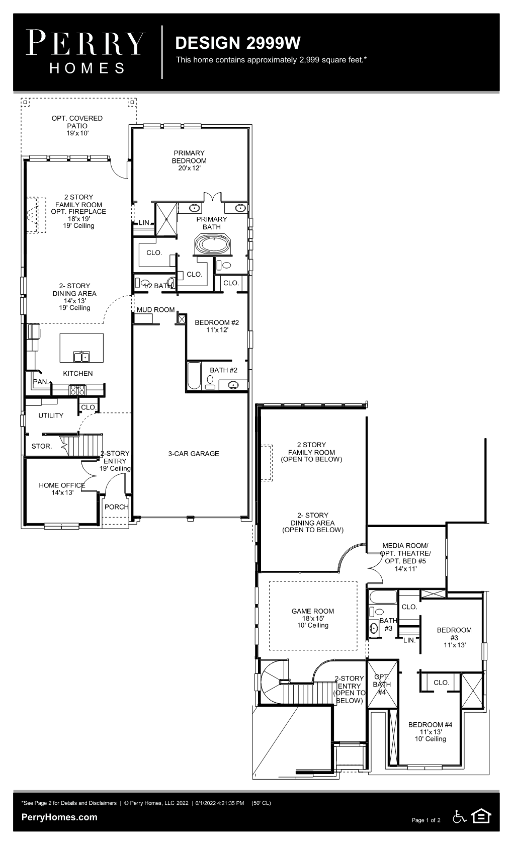 Floor Plan for 2999W