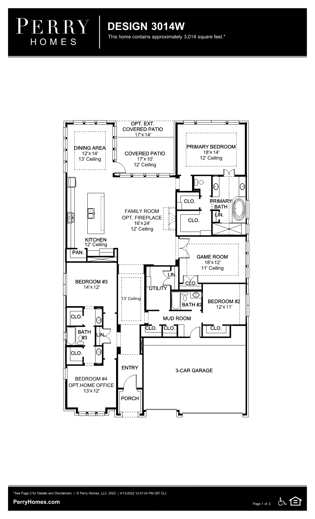 Floor Plan for 3014W