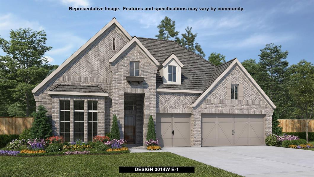 New Home Design, 3,014 sq. ft., 4 bed / 3.0 bath, 3-car garage