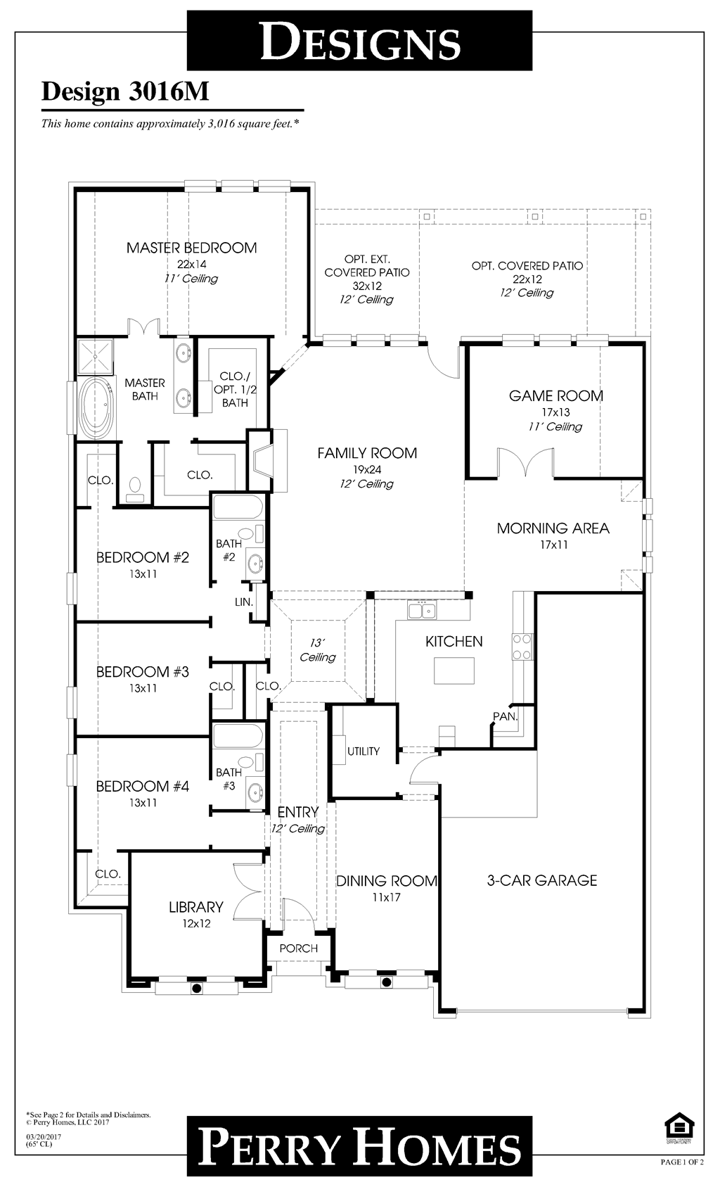 Floor Plan for 3016M