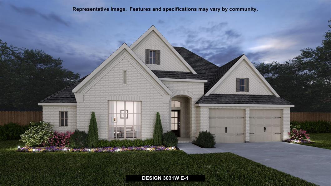 New Home Design, 3,031 sq. ft., 4 bed / 3.0 bath, 3-car garage