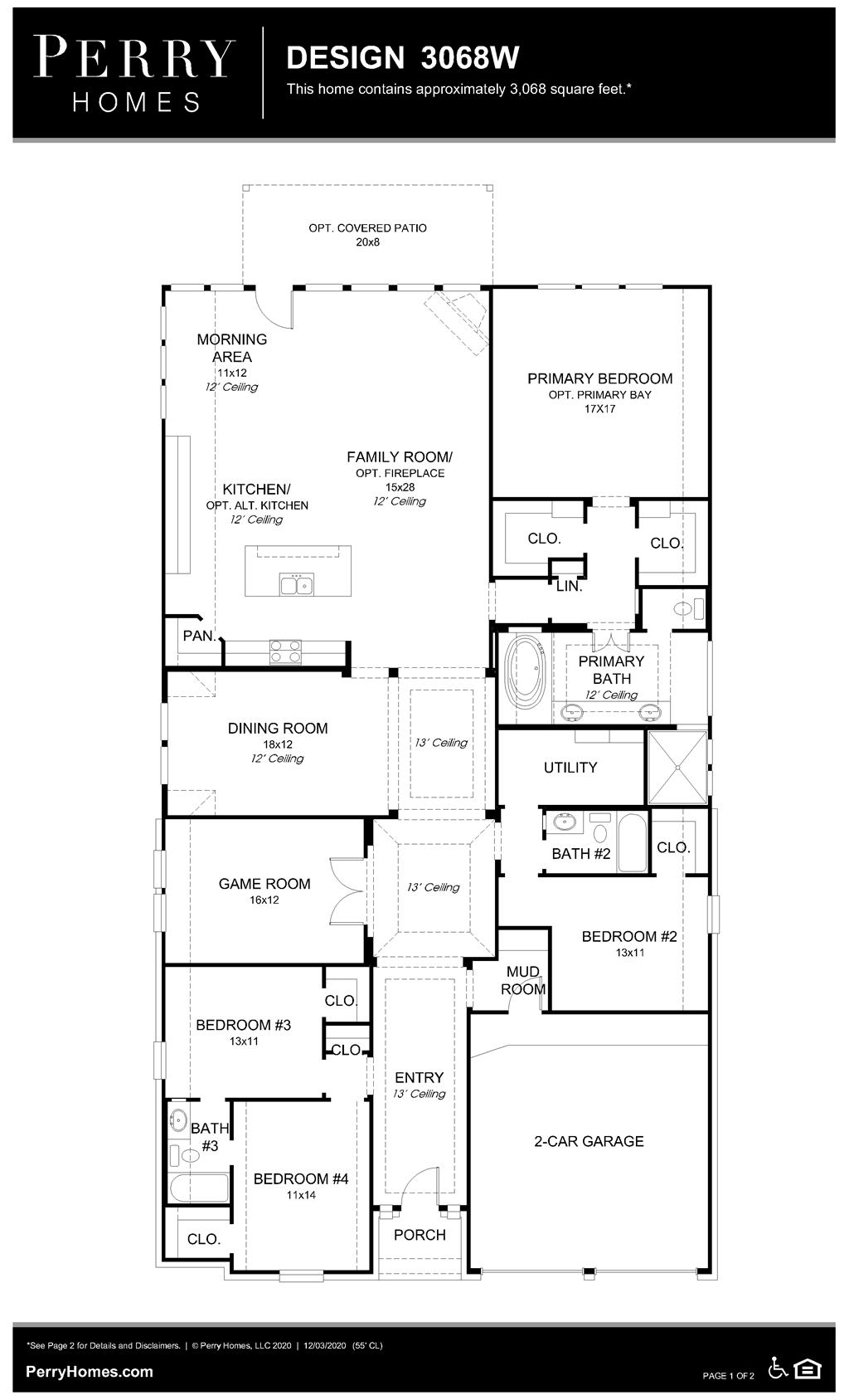Floor Plan for 3068W