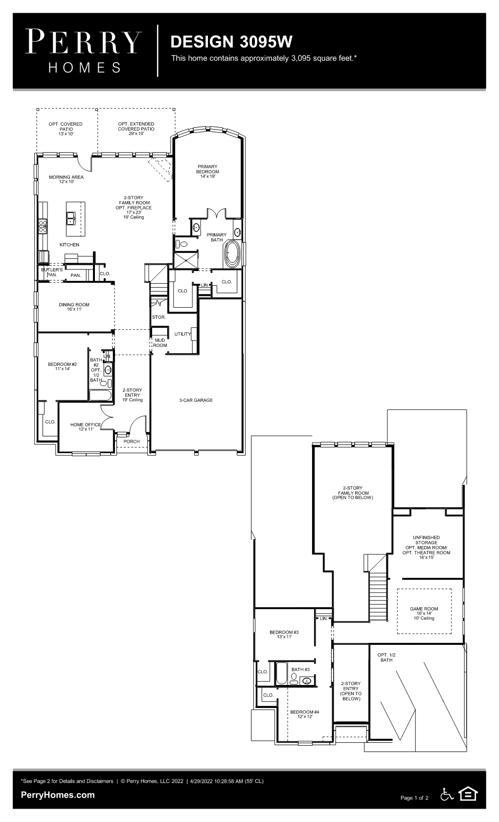 Floor Plan for 3095W
