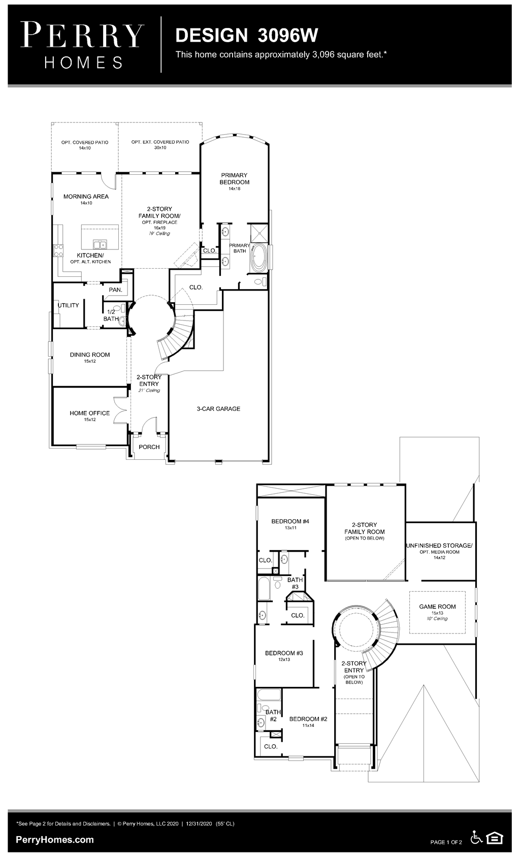Floor Plan for 3096W