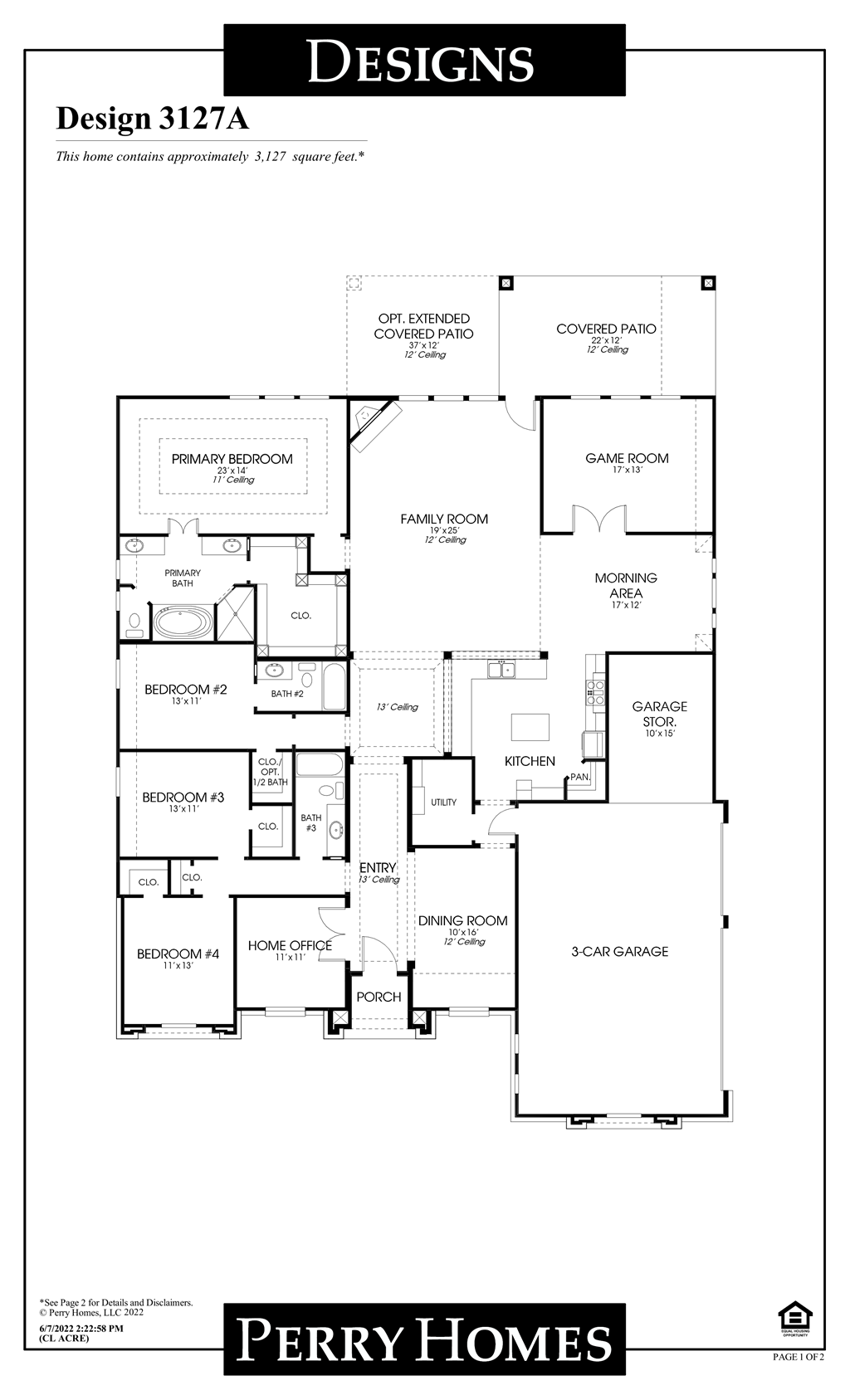 Floor Plan for 3127A