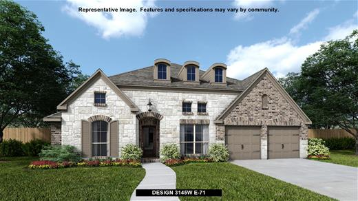 New Home Design, 3,145 sq. ft., 4 bed / 3.5 bath, 2-car garage