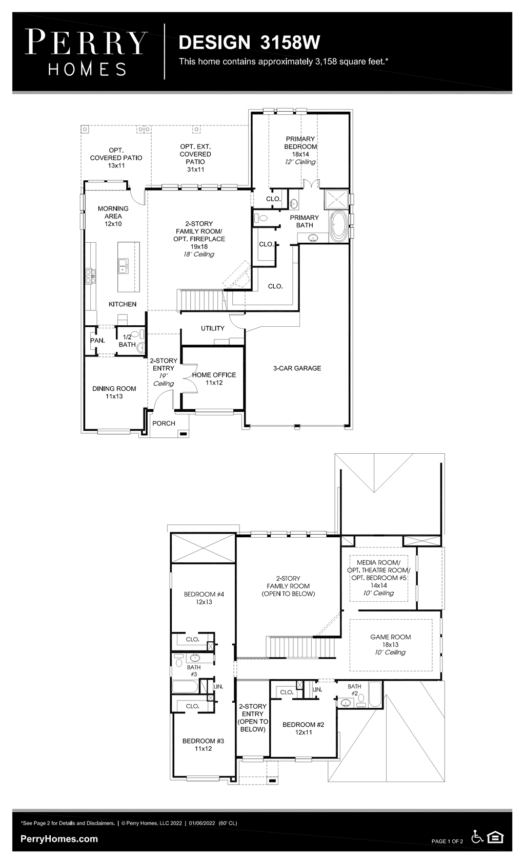 Floor Plan for 3158W