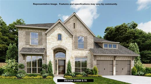 New Home Design, 3,158 sq. ft., 4 bed / 3.5 bath, 3-car garage