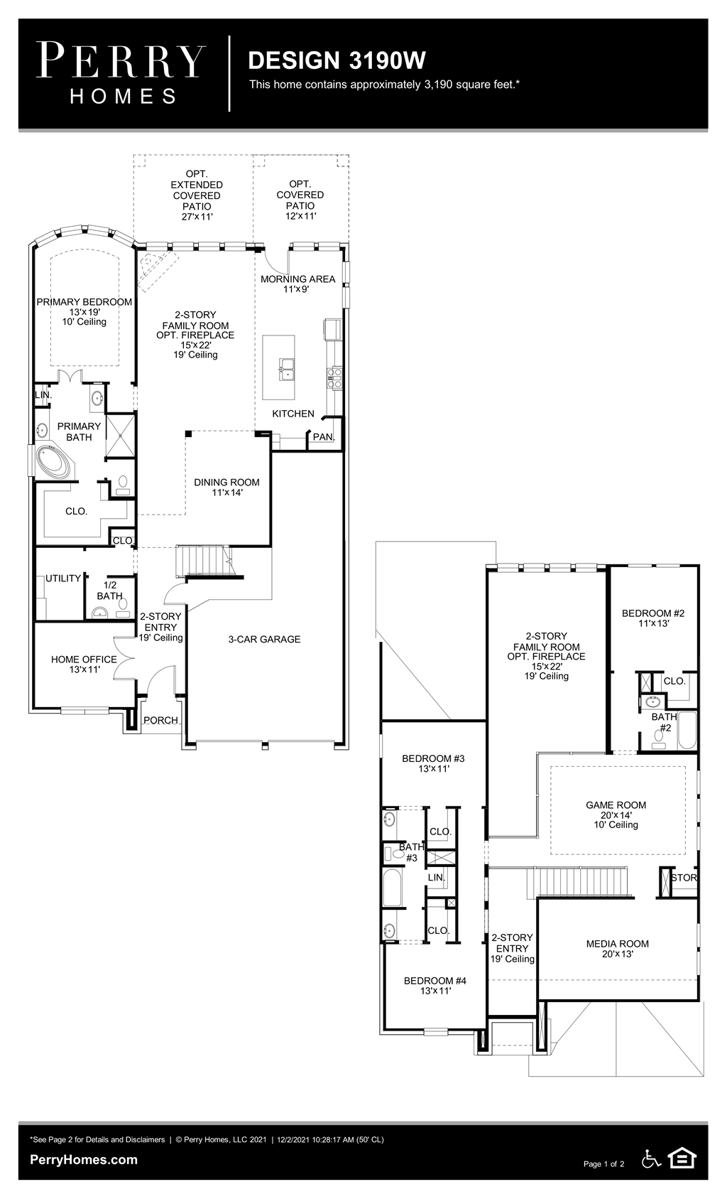 Floor Plan for 3190W