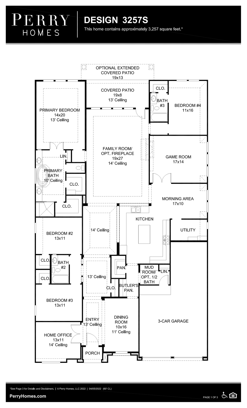 Floor Plan for 3257S