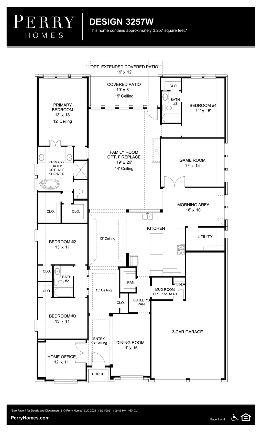 Floor Plan for 3257W
